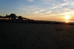 am Strand , am Abend